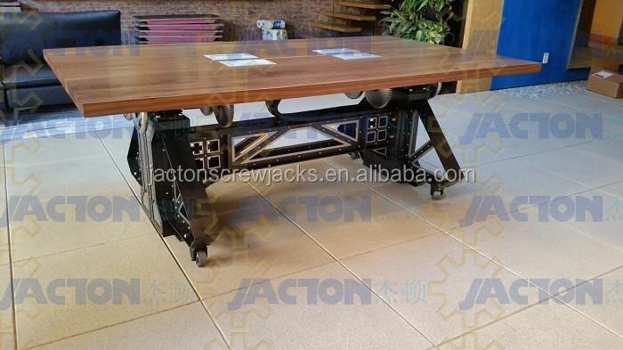 Elektrische zit sta hoogte verstelbare tafel onderstellen voor
