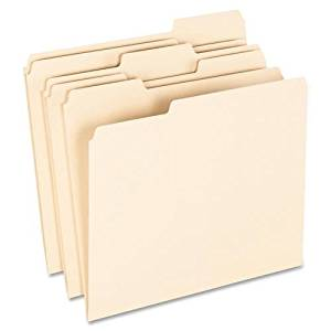 """74520 Pendaflex 100% Recycled Paper Top Tab File Folder - Letter - 8.50"""" Width x 11"""" Length Sheet Size - 1/3 Tab Cut - Assorted Position Tab Location - 11 pt. - Manila - 100 / Box"""