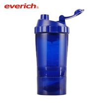 cheap 24oz plastic tritan shaker bottle with extra container