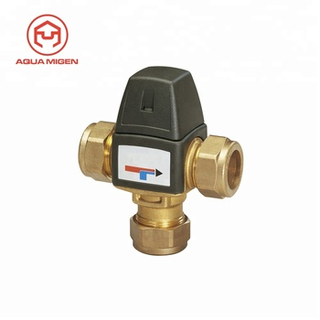 Hot Water Brass Thermostatic Mixing Valves For Heating