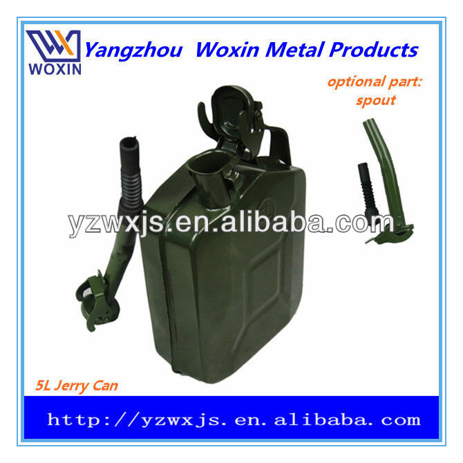 5L Military-style steel journey can/jerry cans