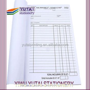 export to australia invoice book printing proforma invoice