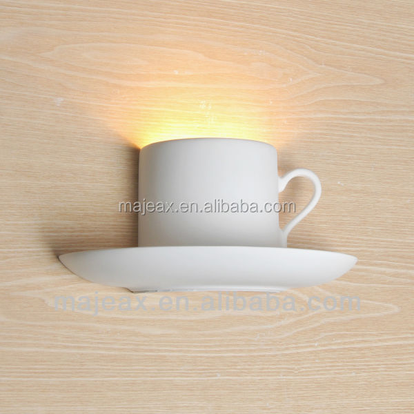 coffee cup Plaster Wall Lamp indoor light