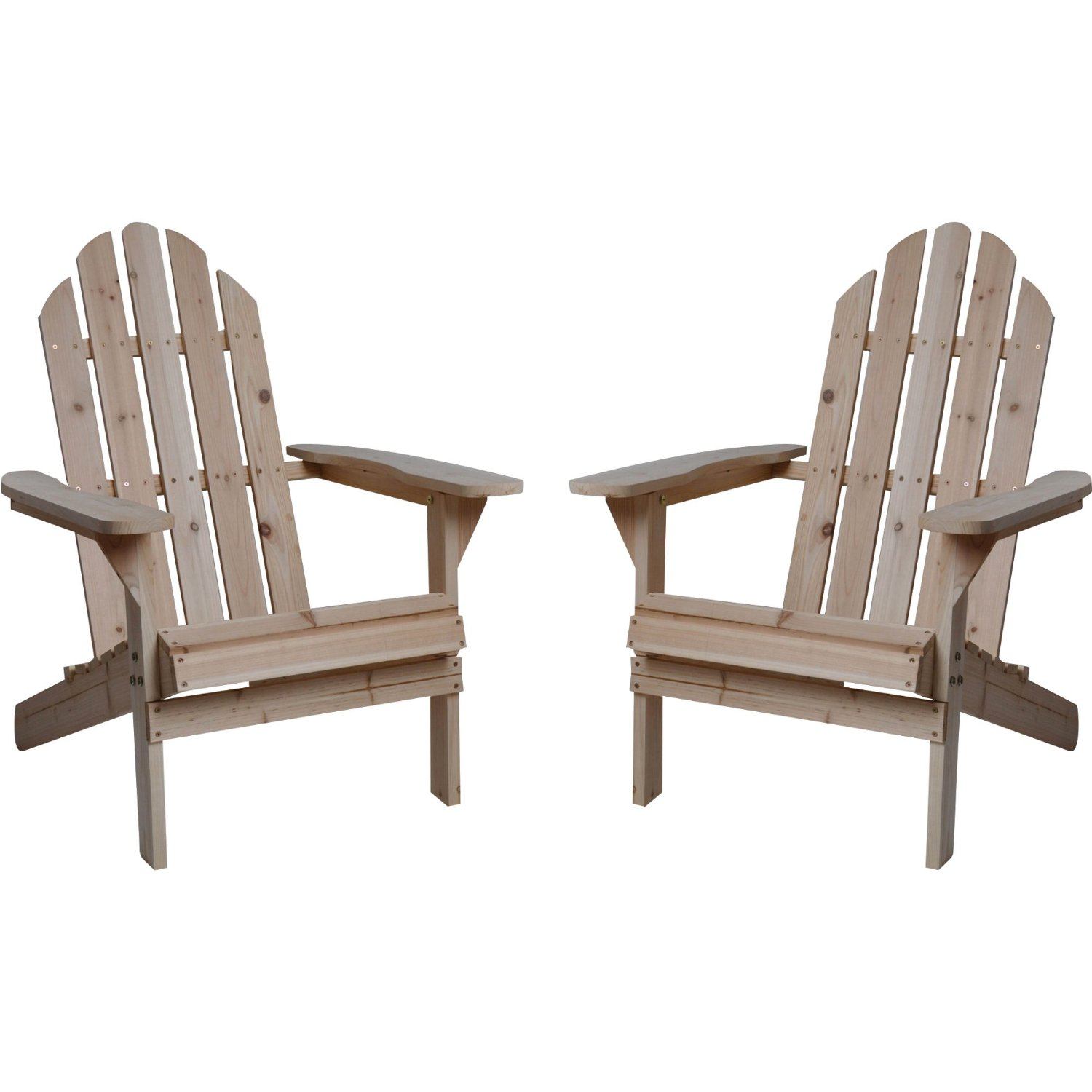 Get Quotations · Twin Pack Fir Wood Adirondack Chairs