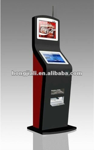Freestanding Dual Touchscreen Internet Kiosk With Wireless WIFI