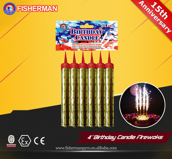 Party Time Birthday Cake Sparklers Wholesale Candle Fireworks