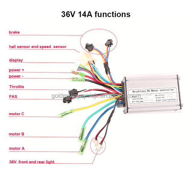 48V 1500W Electric Bicycle E-bike Scooter Brushless DC Motor Controller US Stock