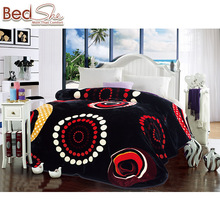 Polyester plush geometric adult double size 3.5kg printed throw blanket