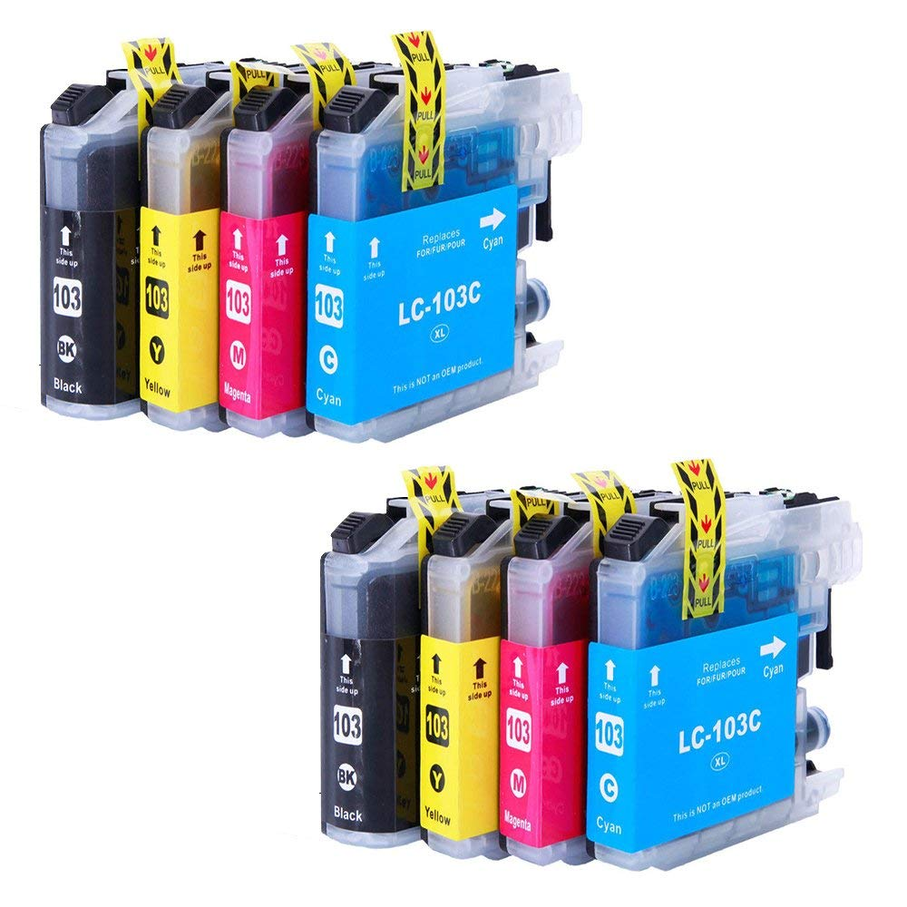 Wolfgray Compatible Ink Cartridge Replacement for Brother LC103XL LC 103 XLfor Brother MFC-J870DW MFC-J450DW MFC-J470DW MFC-J6720DW MFC-J4510DW MFC-J4710DW MFC-J475DW MFC-J285DW MFC-J6520DW Printer