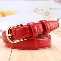 Queena Wholesale Croco Style Garment Accessories Adjustable Womens Belts