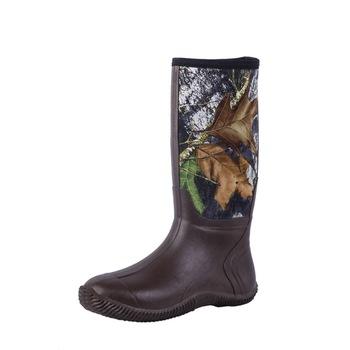 Uomini di gomma stivali da caccia in neoprene camo mens stivali di gomma  del neoprene c314ec5b29f