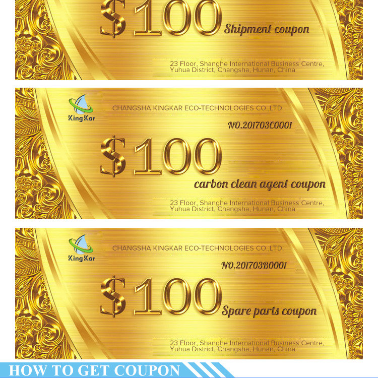 Contact us to get $1000 coupon for purchasing carbon clean machine