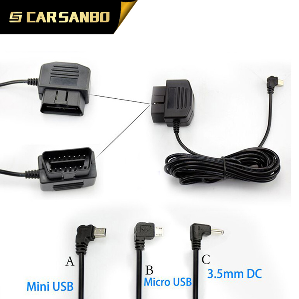 S02A new OBD connector power cable car recorder v1000gs with 1080p gps