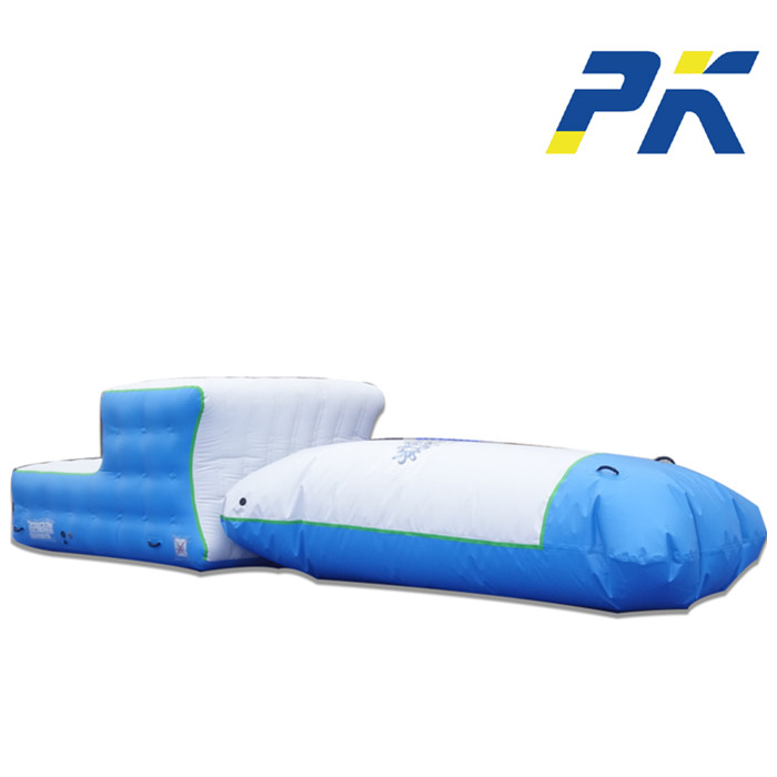 Outdoor park adult toys jump pillow water blob trampoline lake inflatable water catapult blob