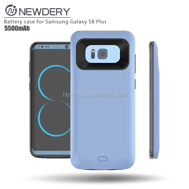 5500mAh batteries and chargers rechargeable charging mobile phone case portable power bank for Samsung s8 plus