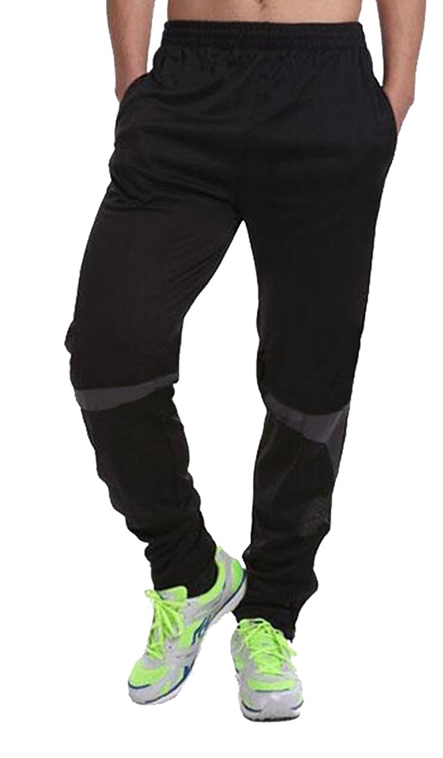 Heless Mens Harem Chinese Style Elastic Waist Casual Sport Jogging Pants Trousers