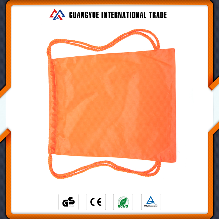 Guangyue High Quality Cheap Custom Polyester Strong Drawstring Back PacK Bags