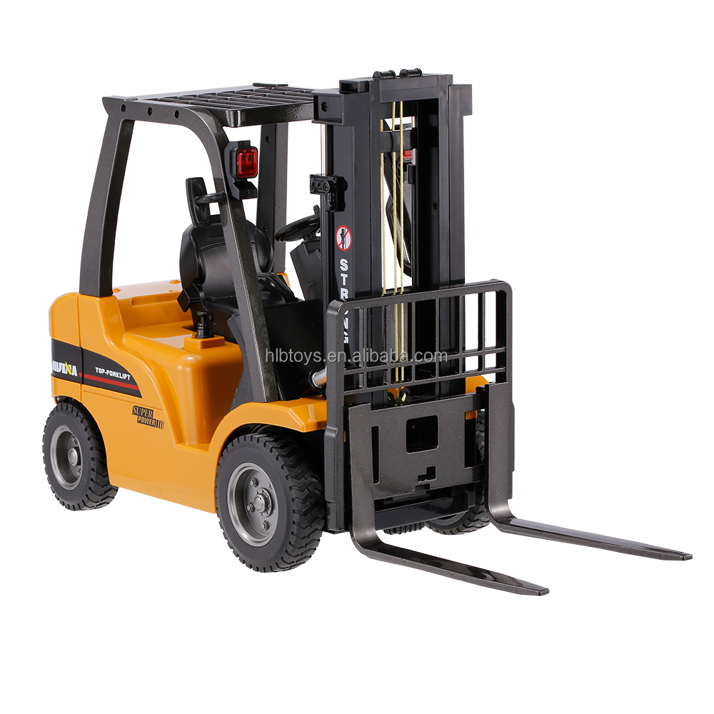 2.4G 8CH 1/10 Alloy Forklift Construction Engineering Vehicle Toy Gift Forklift Remote Control Outdoor Toys