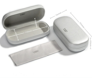 Metal aluminum elegant eyeglasses case box spectacle case