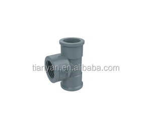 HIGH QUALITY DIN STANDARD PVC PIPE FITTINGS LIST FEMALE FREE TEE TUBE