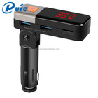 High Performance Car Music Player Fm Transmitter Dual USB Interfaces Charger for iphone 6 Wireless Bluetooth Car Kit