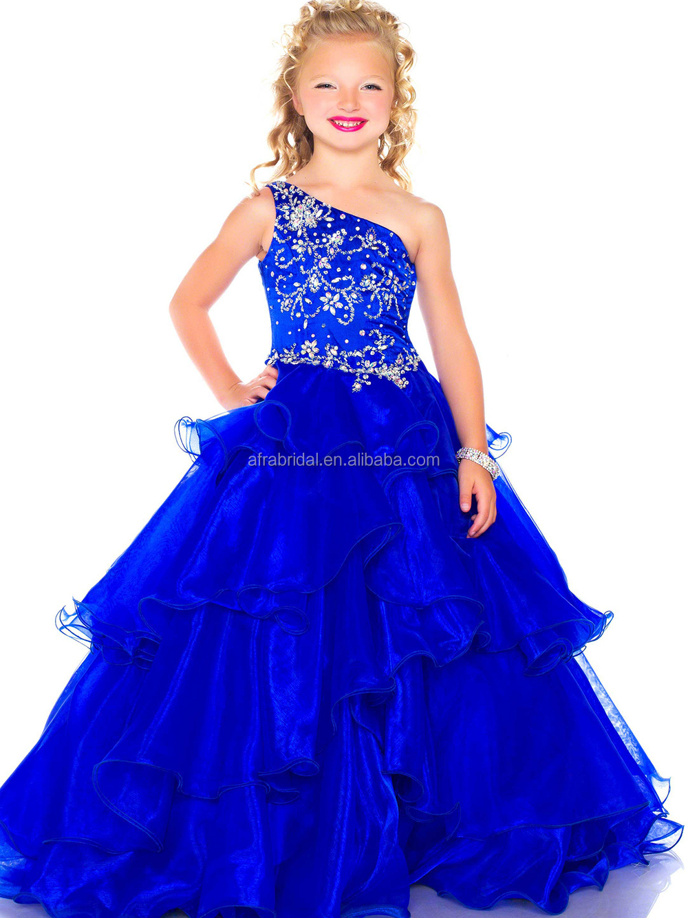 Sd653 Blue Ball Gown Dresses For Kids Princess Ball Gown Prom ...