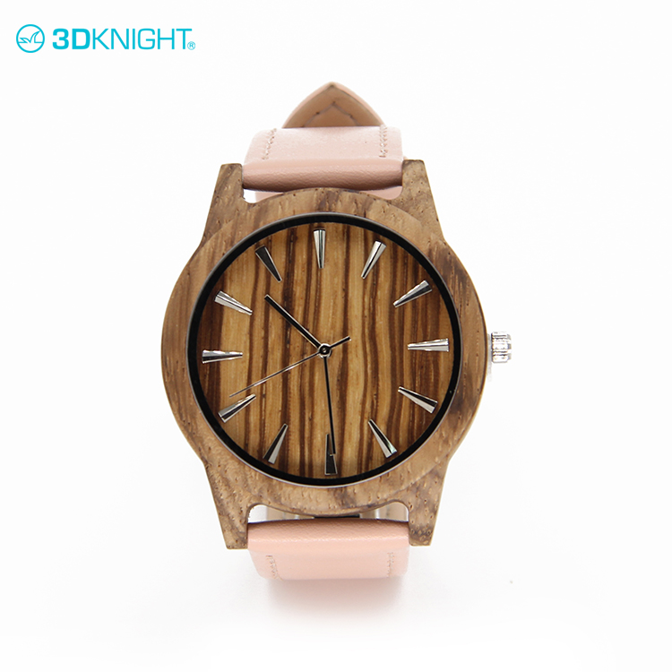 Latest Zebra wood mens watches wood brand shopping OEM welcomed