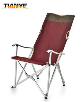 Oxford Camping Arm Chair Relax Metal Frame Folding Outdoor Beach Bed