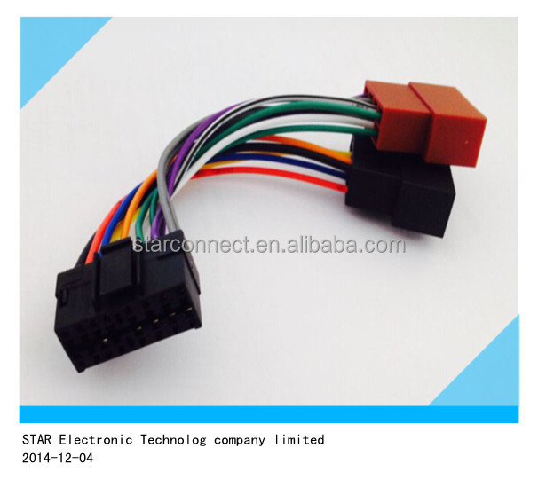 Manufacturer Car Stereo Connector Harness Jvcsony 16p To Iso Buy Rhalibaba: Sony Car Stereo Cable Harness At Gmaili.net