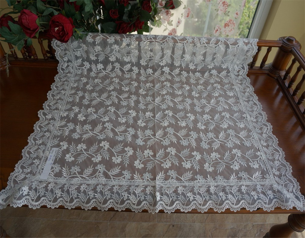 fabric with cutwork embroidery 100% polyester cutwork embroidery table cloth