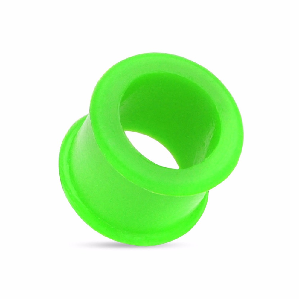 Colorido Silicone Flexível Ear Flesh Tunnels