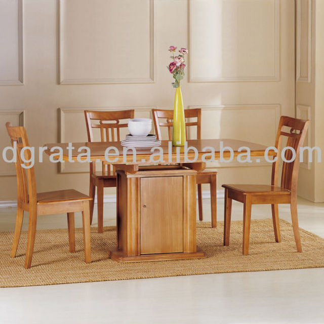 2013 Malaysia Rubber Wood Dining Table In Light Color Is Made For Room