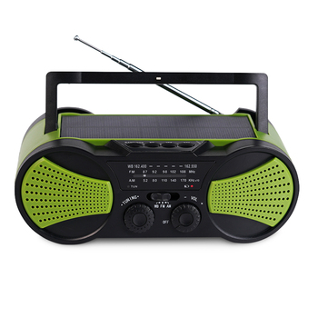 High Quality Abs Big Solar Panel Two Speakers Am Fm Portable Radio