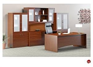 """Peblo72"""" Excutive Office Desk Workstation, Storage Credenza"""