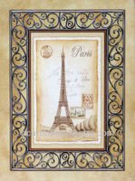 Pure hand-painted high quality oil painting famous Eiffel Tower in Paris, home office decorative painting