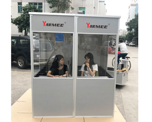 YAMEE portable full size soundproof simultaneous translation booth 2 person interpreter booth