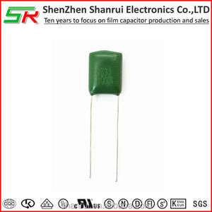 china electronic components MEF polyester film capacitor/ CL11 103J 100V Mylar capacitors