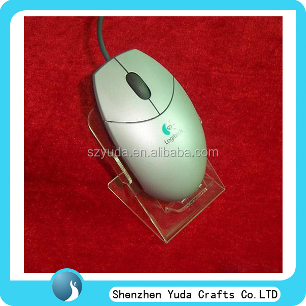fancy cheap single mouse display clear acrylic computer accessory display stand cheap custom made in Guangdong