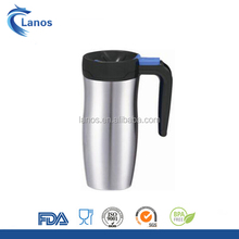 Best selling contigo 500 ml double wall stainless steel travel mug with black rubber handle