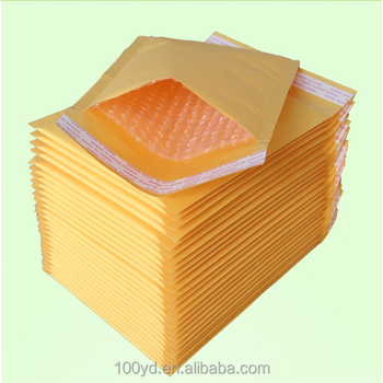 59a89ba2b78e Custom Self Seal Yellow Mailing Courier Bag Kraft Paper Bubble Padded  Envelopes