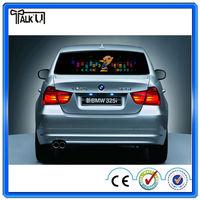 Flashing el/led pannel audio car equalizer sticker for car glass, customized led lighting car sticker painting el sticker