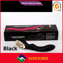 24 cm USB charge black wand massager with multi speed powerful secret vibrator for women G-spot stimulate