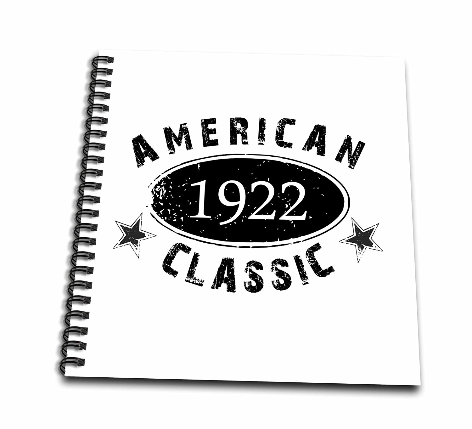 InspirationzStore Typography - 1922 American Classic - Personalized Birth Year Birthday gift - black grunge vintage look - funny - Memory Book 12 x 12 inch (db_161736_2)