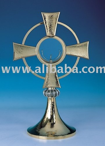 Brass Monatrance/Gold Plated Monstrance