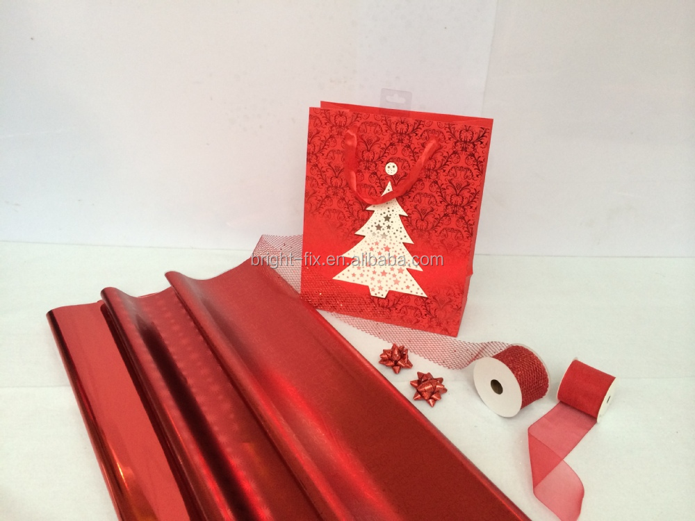 Elegant Metallic Gift Wrapping Paper Rolls,Christmas Foil Wrapping ...