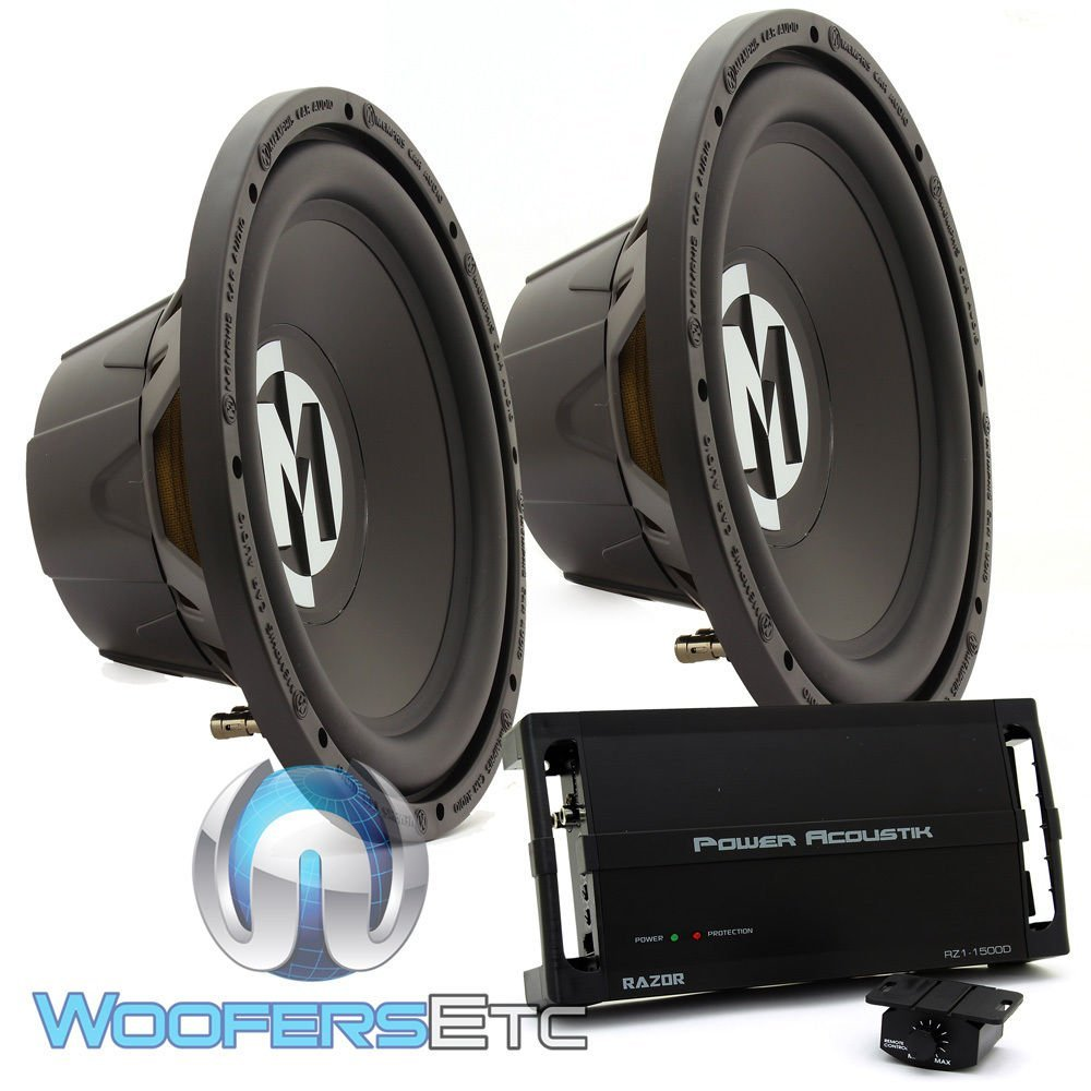 Buy Power Acoustik RZ1-1500D 1500W MONO Car Amplifier + 1 5 Farad