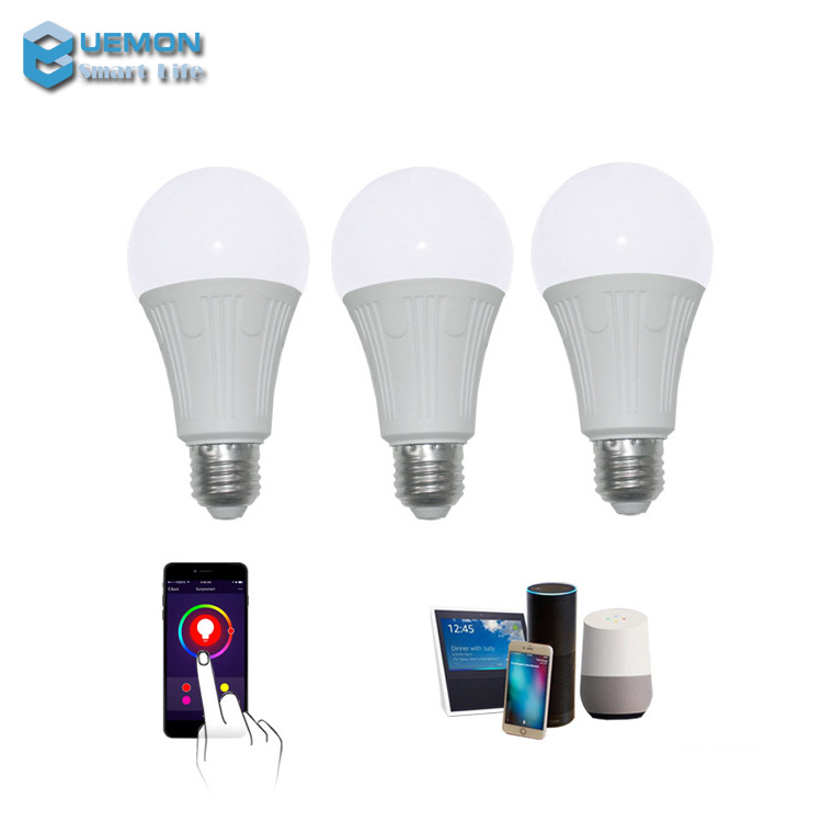 UEMON <strong>Smart</strong> home RGBW Alexa Voice Control Change Color Wifi <strong>Smart</strong> <strong>LED</strong> Light <strong>Bulb</strong>