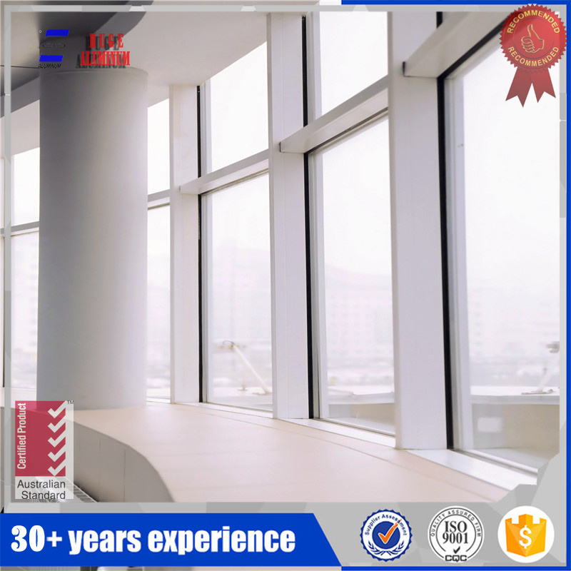 French main design aluminum profile fixed window frame