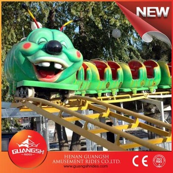 Attractions Playground Kids Roller Coaster Caterpillar Style Backyard  Amusement Rides