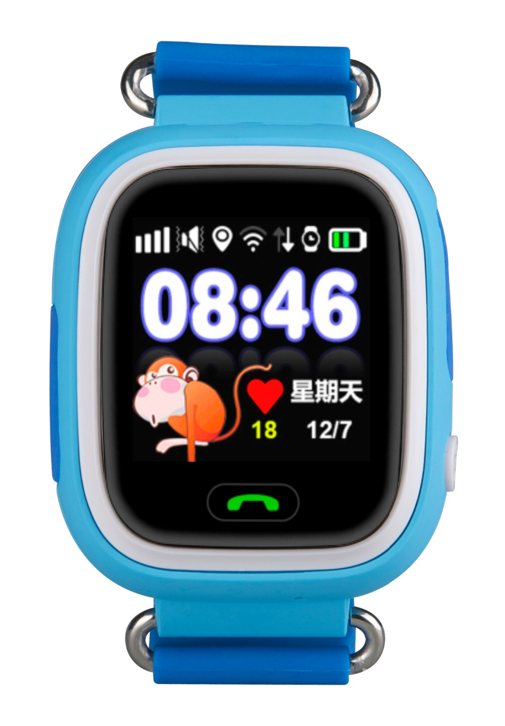 new arrival touch screen gps tracker watch for kids with sos emergency call function tm s002b. Black Bedroom Furniture Sets. Home Design Ideas
